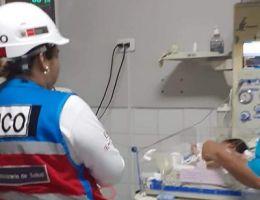 """HRT II-2 """"JAMO"""" refirió a bebe de 3 días de nacida por diagnostico con distensión abdominal a la ciudad de Lima"""