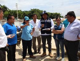 LA DRA. MONICA MEZA de la Dirección de Gestión de Riesgo de Desastres