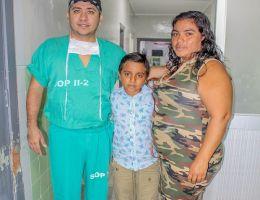 Médicos del HRT salvan la pierna de un niño accidentado de El Bendito