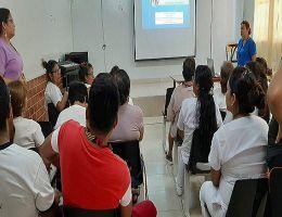 HRT realizó capacitación al personal con afecciones secundarias de salud.